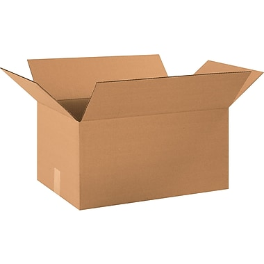 20in.(L) x 13in.(W) x 10in.(H) - Staples® Corrugated Shipping Boxes, 25/Bundle