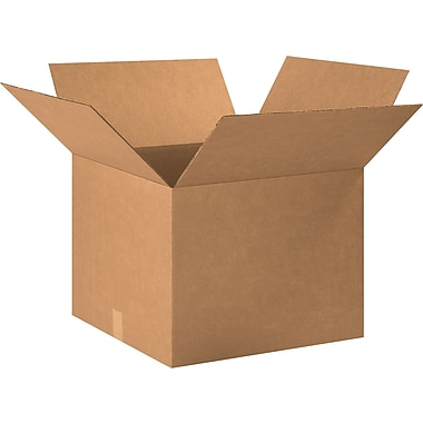 20in.(L) x 20in.(W) x 15in.(H) - Staples® Corrugated Shipping Boxes, 20/Bundle