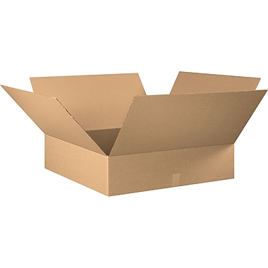 30in.(L) x 30in.(W) x 8in.(H) - Staples® Corrugated Shipping Boxes, 10/Bundle