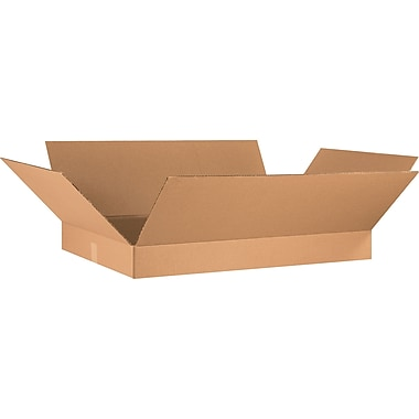 36in.(L) x 24in.(W) x 4in.(H) - Staples® Corrugated Shipping Boxes, 10/Bundle