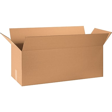 32in.(L) x 12in.(W) x 12in.(H) - Staples® Corrugated Shipping Boxes, 20/Bundle