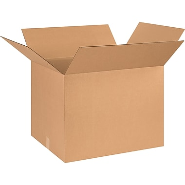 26in.(L) x 20in.(W) x 20in.(H) - Staples® Corrugated Shipping Boxes, 10/Bundle