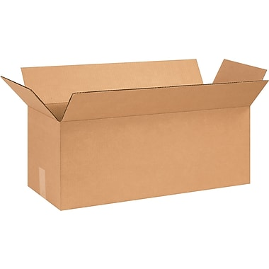 26in.(L) x 10in.(W) x 10in.(H) - Staples® Corrugated Shipping Boxes, 25/Bundle