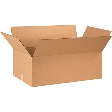 28in.(L) x 16in.(W) x 10in.(H) - Staples® Corrugated Shipping Boxes, 20/Bundle