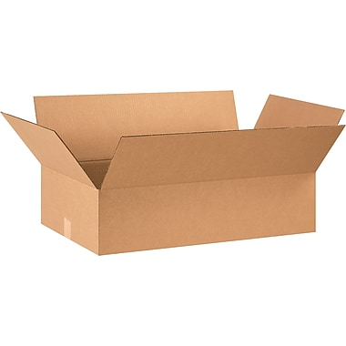 28in.(L) x 16in.(W) x 7in.(H) - Staples® Corrugated Shipping Boxes, 20/Bundle