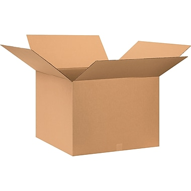 28in.(L) x 28in.(W) x 20in.(H) - Staples® Corrugated Shipping Boxes, 10/Bundle