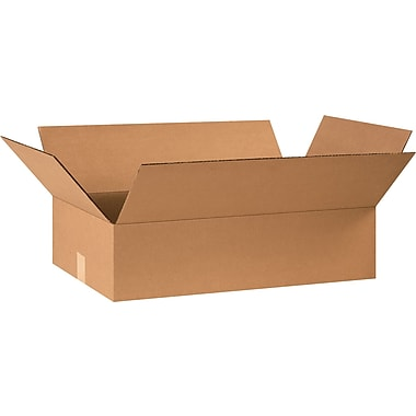 24in.(L) x 14in.(W) x 6in.(H) - Staples® Corrugated Shipping Boxes, 25/Bundle