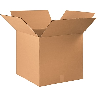 22in.(L) x 22in.(W) x 20in.(H) - Staples® Corrugated Shipping Boxes, 10/Bundle