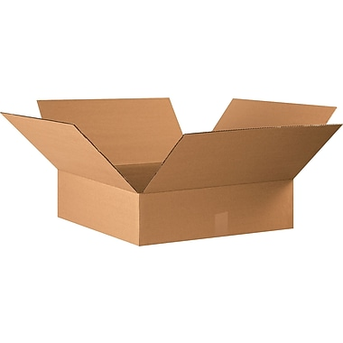 22in.(L) x 22in.(W) x 4in.(H) - Staples® Corrugated Shipping Boxes