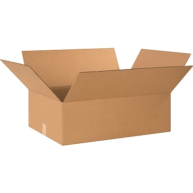 24in.(L) x 18in.(W) x 8in.(H) - Staples® Corrugated Shipping Boxes, 20/Bundle