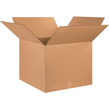 25in.(L) x 25in.(W) x 20in.(H) - Staples® Corrugated Shipping Boxes, 10/Bundle