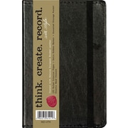 "C.R. Gibson Genuine European Bonded Leather Journal, Assorted Black & Brown, 3-1/2"" x 5-1/2"""