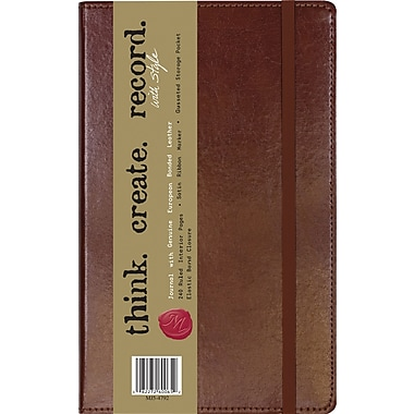 C.R. Gibson Genuine European Bonded Leather Journals, 5-1/4in. x 8in.