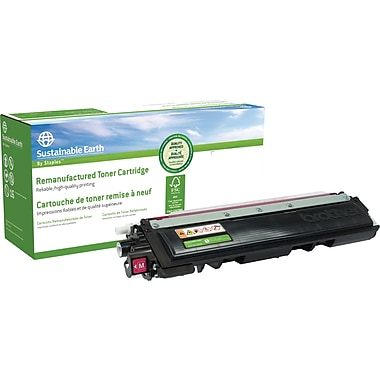 Sustainable Earth by Staples® Remanufactured Magenta Toner Cartridge, Brother TN-210M