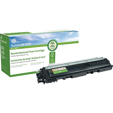 Sustainable Earth by Staples® Remanufactured Black Toner Cartridge, Brother TN-210BK
