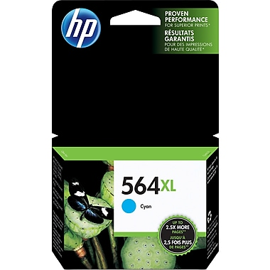 HP 564XL Cyan High Yield Original Ink Cartridge (CB323WN)