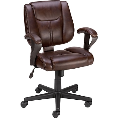 Staples® Telford™ Luxura®  Task Chair, Brown