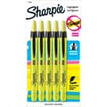 Sharpie® Accent® Retractable Pocket Highlighters, Fluorescent Yellow, 5/Pack