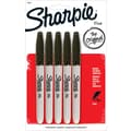 Sharpie® Fine Point Permanent Markers, Black, 5/Pack