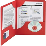 "Smead Lockit™ Two-Pocket Folders, Red, 9 3/4""W x 11 1/2""H, 25/Pk"