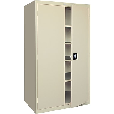 Sandusky Large-Capacity Storage Cabinet, 78in.H x 36in.W x 24in.D, Putty