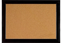 Quartet® 17' x 23' Cork Board with Black Frame