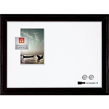 quartet magnetic dry erase board 11 x 17 black frame