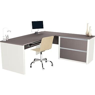 Bestar Connexion L Desk w/ Oversized Pedestal