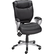 Staples Montverde Leather Petite Task Chair, Black