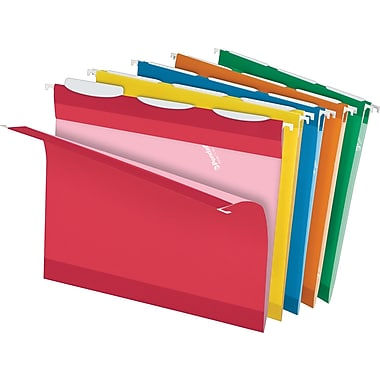 Pendaflex® Ready-Tab® Reinforced Hanging Folders, 3-Tab, Letter, Assorted, 25/Box (42621)