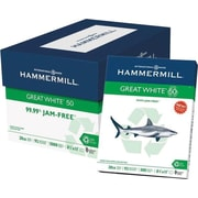 HammerMill® 50% Recycled Great White Copy Paper, 8 1/2 x 11, Case
