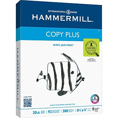 HammerMill Copy Plus Copy Paper, 8 1/2in. x 11in., Ream