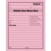 "Adams® ""While You Were Out"" Message Pads, Pink, 12/Pack"