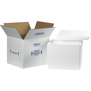 Staples Insulated Shippers, Interior Size: 13-3/4in. x 11-3/4in. x 11-7/8in., 1 Kit/Case