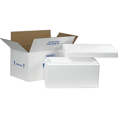 Staples Insulated Shippers, Interior Size: 17in. x 10in. x 8-1/4in., 1 Kit/Case