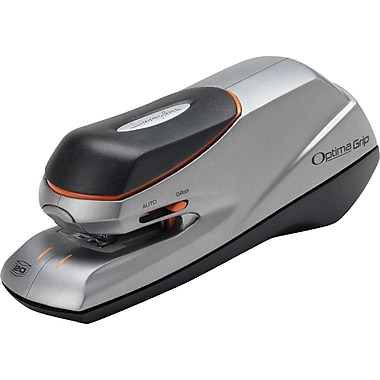 Swingline® Optima® Grip Electric Half Strip Stapler, 20 Sheet Capacity, Silver