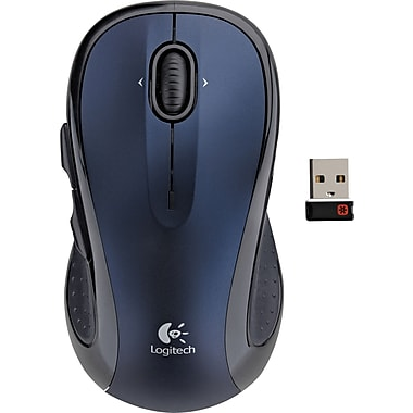 Logitech M510 Wireless Laser Mouse, Blue (910-002533)