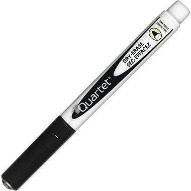 Quartet® Low Odor Dry-Erase Markers, Fine Tip, Black, Dozen