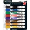 Quartet® Low Odor Marker, Chisel Tip, Assorted, 8/Pack