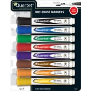 Quartet Chisel Point Dry-Erase Marker, Assorted, 8/Pack