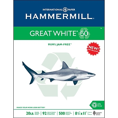 HammerMill® Great White Recycled Copy Paper 8 1/2in. x 11in., 500/Ream