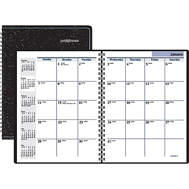 "2014 DayMinder® Monthly Planner, 6 7/8"" x 8 3/4"", Black"