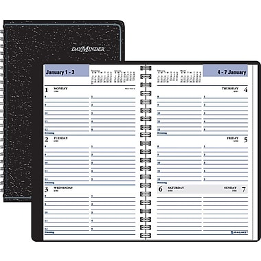 "2014 DayMinder® Weekly Appointment Book Tabbed, 4 7/8"" x 8"", Black"