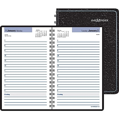"2014 DayMinder® Daily Appointment Book, 4 7/8"" x 8"", Black"