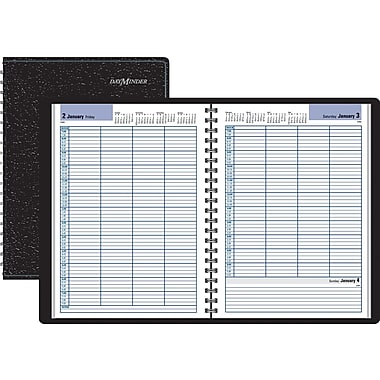 "2014 DayMinder® Four Person Group Daily Appointment Book, 7 7/8"" x 11"""