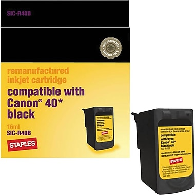 Staples® Remanufactured Black Ink Cartridge Compatible with Canon® PG-40