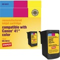 Staples® Remanufactured Tricolor Ink Cartridge, Canon CL-41 (SIC-RCL41CDS)