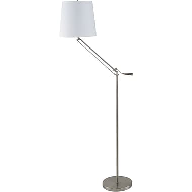 Fangio Incandescent/CFL Metal Adjustable Floor Lamp, Brushed Nickel