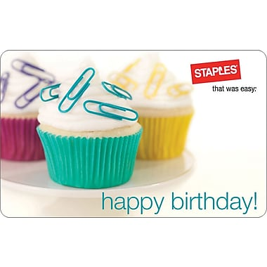Staples® Birthday Gift Card, $50