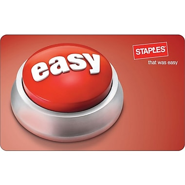 Staples® Easy Button Gift Card, $25